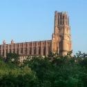 Cathédrale Sainte Cécile d'Albi, vue de la rive droite du Tarn