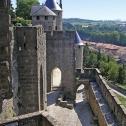 Le chemin de ronde de la Cité de Carcassonne
