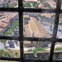 Vue sur la ville de Carcassonne depuis un donjon
