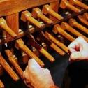 Castres, clavier du carillon de Notre Dame de la Plate