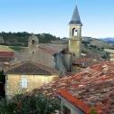 Coeur du village avec la Collégiale de Lautrec