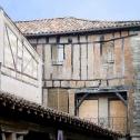 Maison médiévale à colombage typique de Lautrec