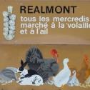Marché aux volailles et à l'ail de Réalmont Tarn