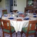 Petit déjeuner dans la salle à manger de Lalande